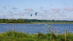 Der Kitespot: stehtief und immer viel Platz.