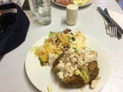 dish of the day (baked potato with filling of choice and salad)