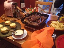 Mixed grill for 2, €40 inc wine!