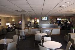 United Club at D-8 - One of two main seating areas
