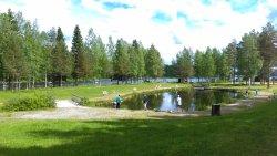 Lake for fishing salmon