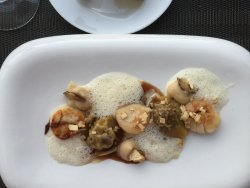 Scallops with Mushrooms