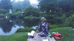 July Okoto in the whopaints Garden.