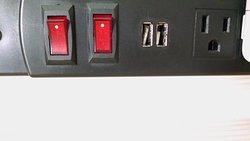 unusable USB slots on night stand