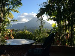 view of the arenal volcan from my room