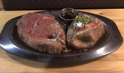 What's this picture missing? YOU! Enjoy our delicious, slow-cooked, chef-carved prime rib!