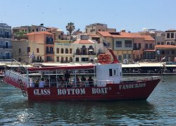 Chania Glass Bottom Boat Trips - Fanourios Boat