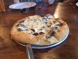 This is the Holy Shitake pizza