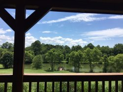 The view from Libby's cabin.