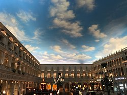 Beautiful hotel and luxury shopping
