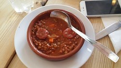 Bean soup and sausage