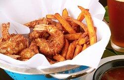 Coconut Shrimp with Sweet Potato Fries