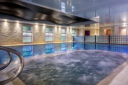 Take a dip in the jacuzzi, sauna, steam room or heated pool