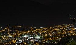 Tirano di sera vista dalla terrazza