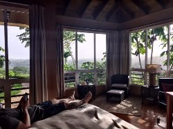 View from the bed in Villa 4