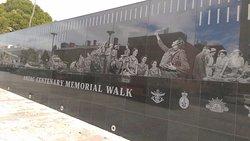 Anzac Walk along Kintore Ave Adelaide
