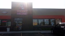 front of & entrance to Dunkin' Donuts