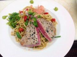 Ahi  Tuna on Cold Soba Noodles