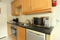 Triple apartment has a bedroom with double bed and an extra bed in the living room,kitchen,bathr