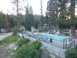 Pool is right beside the lodge
