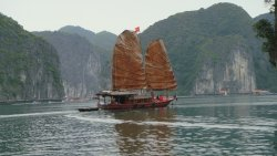 Catba sailing boats - Junks of Indochina