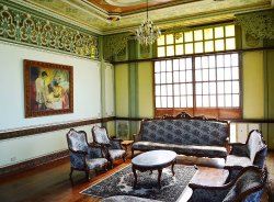 Interior the the luxurious Casa Lubao built in 1920