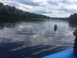 jump out, swim around!