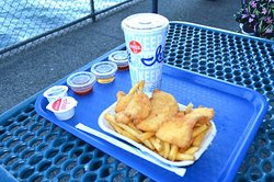 Halibut with fries