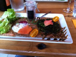 galette saveur iodée truite et algues