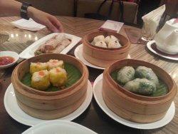 All kind of dim sum, dumpling, hakau, Siumei, roast pork rolls--