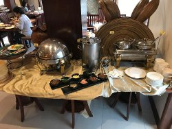Breakfast buffet, some of the options to choose from...