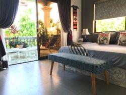 Grey Elephant Guest Bedroom
