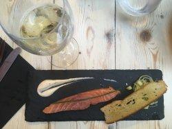 Gravlax de saumon / Vin blanc moelleux