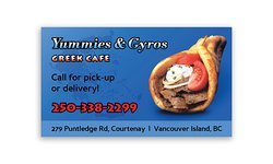 yummy gyros give us a call for pick up or delivery