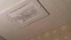 Dirty vent in room