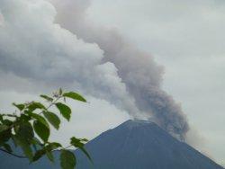 Eruption of Volcan Reventador