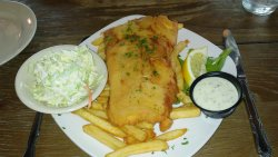 Fresh fried haddock at Lobster Pound in Lincolnville Beach, Maine
