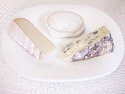 Assiette de fromages régionaux - goudoulet, bûche de chèvre du Vivarais et Yssin bleu