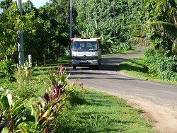 Truck en montagne avant la jonction des 2 îles.