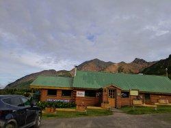 Main lodge with restaurant/bar.