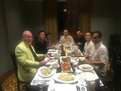 An excellent dinner with friends
