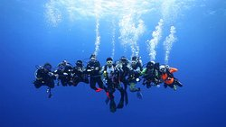 Scuba Diving and relaxing