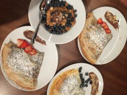 crepes and granola