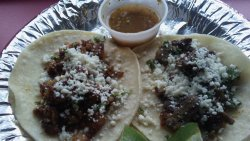 Wonderful street style tacos- asada