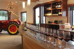 Our rustic chic tasting room blends modern elegance with Dry Creek Valley's farm tradition.