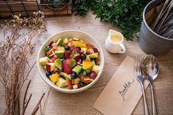 Brekkie's Mixed Fruit Salad with Honey Yogurt Dressing