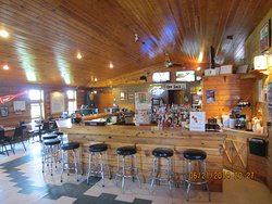 Your first view of Fish Tales main bar as you walk in.