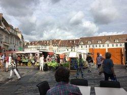 Markt op het plein