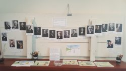 The schoolhouse exhibit.