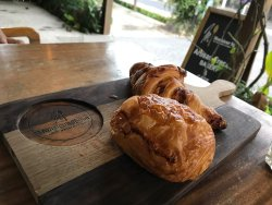 Beautiful croissants and other breakfast for champions!
